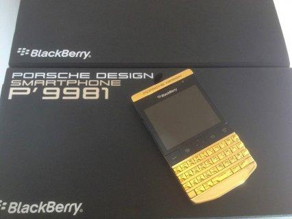 متاحة للبيع Blackberry Porsche design p9981 Gold