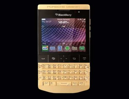 Blackberry Gold porsche Design with Arabic keyboard And Vip pin
