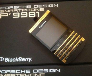 مقفلة BLACKBERRY PORSCHE الذهب تصميم العلامة التجارية الجديدة