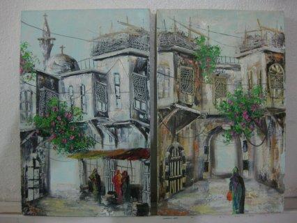 لوحات فنية دمشقية