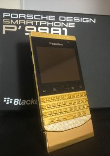 New Blackberry Porsche Design Gold, Blackberry Q10 Gold