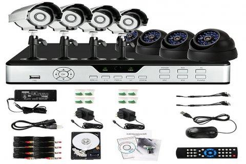 عرض 8 كاميرات مع كافة التجيزات والمشاهده من الجوال