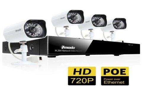 نظام كاميرات مراقبة كامل HD 720P يعمل بتقنية IP