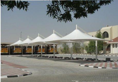تركيب مشاريع مظلات مواقف السيارات - مظلات المشاريع الحكومية -.