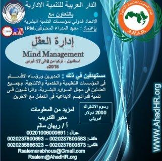 البرنامج النوعي : إدارة العقل M.M  اسطنبول - تركيا  للفترة من 8