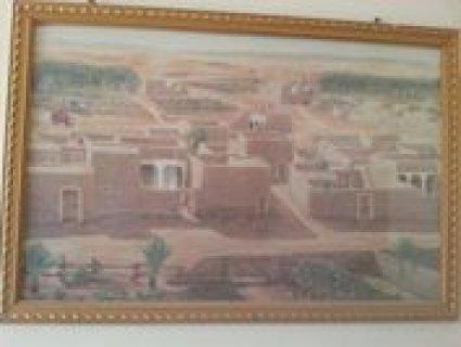 صورة زيتية لتراث السعودية القديم