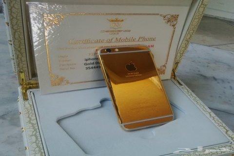 الايفون 6 بلس ذهبي 128 جيجا - iphone 6 plus بسعر 2800 ريال