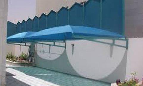 نحن مؤسسة واحة ا المظلات سواتر بيوت شعر المظلات  0508490910