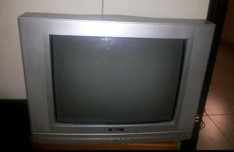 طاولة تلفزيون مع التلفزيون والريسيفير