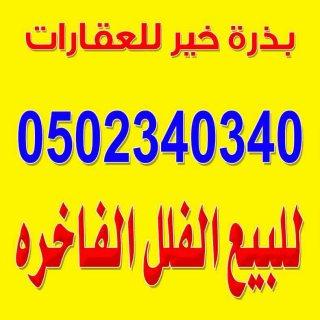 فلل للبيع بالسلى والحمراء وغرناطه واليرموك 0502340340