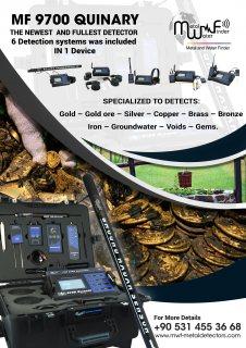 الجهاز الشامل 6 أنظمة لكشف الذهب والمعادن والمياه