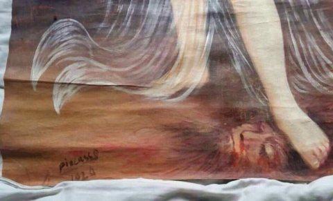 لوحة بابلو بيكاسو اصلية وعليها ختم متحف اللوفر  وتوقيع بيكاسو