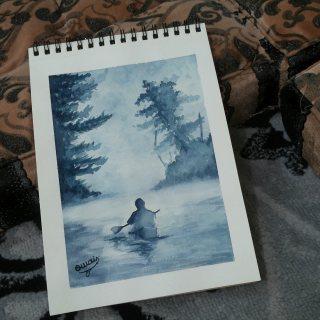 لوحة فنيةيدوية  بالوان مائية