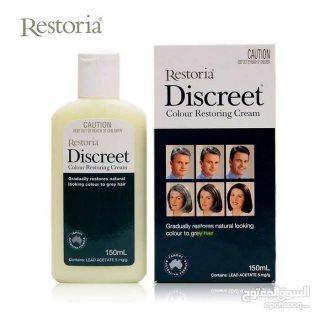 ريستوريا ديسكريت كريم للتخلص من الشعر الابيض واعادة لون الشعر الطبيعي