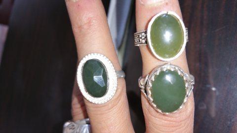 خواتم نسائية جاد يمني درجة اولى وطبيعية 100%   Jade