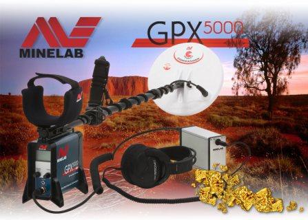 جهاز كشف الذهب الخام الطبيعي وجميع المعادن مع تقفيل الحديد GPX 5000