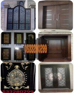 أبواب خشبية و حديدية أو باليز من ورشة الحديد والألمونيوم بالسعودية