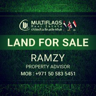 للبيع ارض سكنى تجارى بالعالية شارع وسكة مقابل ابراج الامارات
