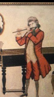لوحة فنية قديمة ونادرة للفنان الانجليزي جيمس ايرل