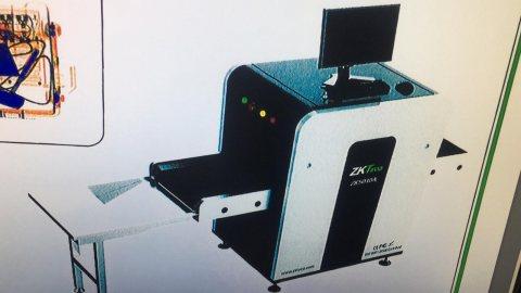 جهاز تفتيش للشنط والصناديق المغلقة باليزر وشاشة لعرض مابداخل الاغراض
