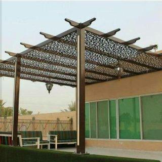 تركيب مظلات حديد شكل خشب، مظلات خشب بلاستيك، مظلاتpvc بخصومات تصل ل25  %
