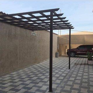 تركيب مظلات حدائق معدنيه، مظلات خشب بلاستيك ، مظلات حدائق بي في سي في الرياض