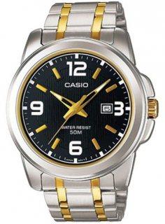 ساعة كاسيو للرجال شاشة سوداء سوار ستانلس ستيل