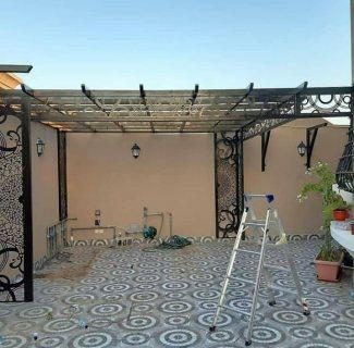 برجولات لحدائق المنازل والروف والاسطح والبلكونات باشكال وتصاميم رائعه