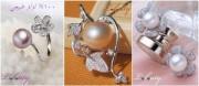 قلادة أو حلق أو خاتم أنيق من اللؤلؤ الأصلي 100%