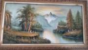 لوحة فنية نادرة بالألوان المائية البارزة لفنان بريطاني