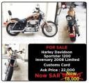 هارلي سبوستر 1200 موديل 2008 Inversary Harley Sportster