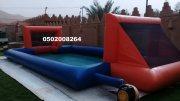 ملعب صابوني 4*1 نفخ الجدار الجانبي مع ارضية الملعب